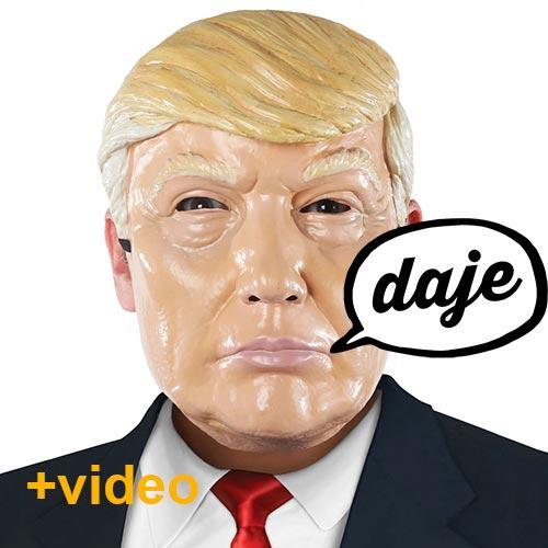 Donald Trump maschera carnevale