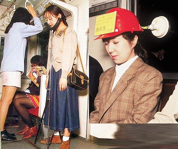 supporto-metro-per-pendolari-chindogu-invenzioni-giapponesi